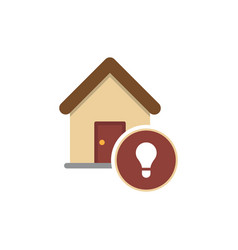 modern icon depicting a bulb in the apartment vector image