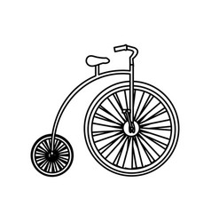 Monochrome silhouette with penny farthing vector