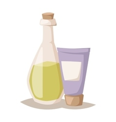 Natural cosmetic vector image