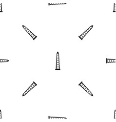 Obelisco of buenos aires pattern seamless black vector