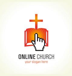 Online church logo vector