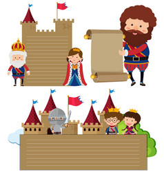 Paper template with king and queen vector
