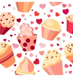 pattern with chocolates vector image