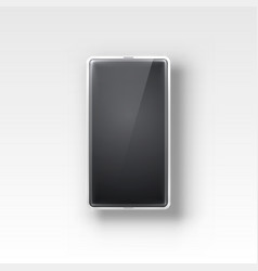 phone with a black screen object electronics on vector image