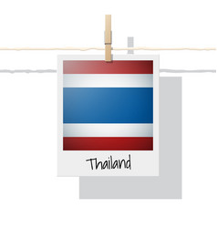 Photo of thailand flag on white background vector