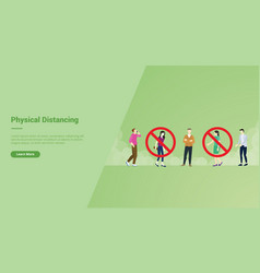 Physical distancing campaign concept with banned vector