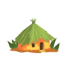 Primitive Tropical Building Jungle Landscape vector