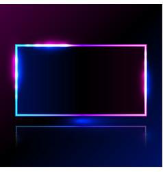 Rectangle light blue pink frame for promotion vector