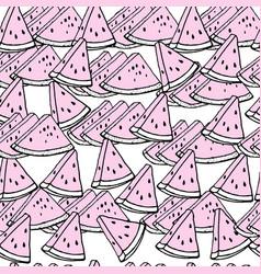 Red watermelon slice design seamless pattern vector