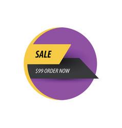 Sale discount design purple yellow black vector
