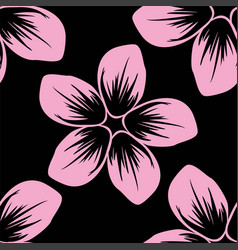 seamless pattern of cordia sebestena flower flat vector image