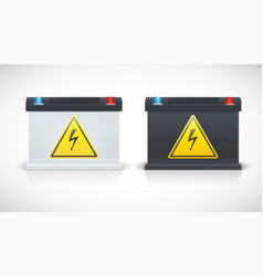 Set of car battery isolated on a white background vector