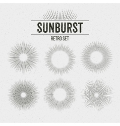 Set of Retro Sun burst shapes vector image