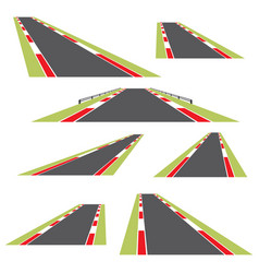 set roads isolated on white background vector image