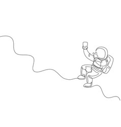 Single continuous line drawing floating vector
