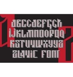 Slavic font set vector image