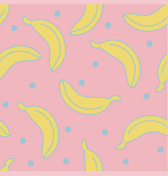 stylish seamless background with bananas seamless vector image
