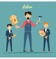 Subject of Labor Education Conceptual Banner vector