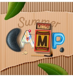 Summer Camp themed poster vector image