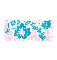 summer scandinavian ornament floral vector image
