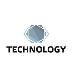 technology logo on white background vector image