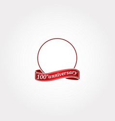 Template logo 100th anniversary with a circle vector