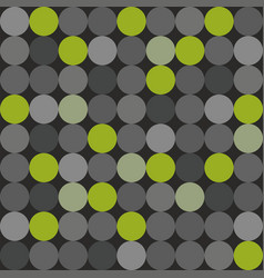 tile pattern with green grey and black polka dots vector image