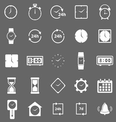 Time icons on gray background vector image