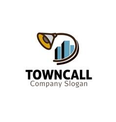 Town Call Design vector