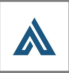 triangle a logo abstract vector image