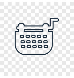 Typewriter concept linear icon isolated on vector