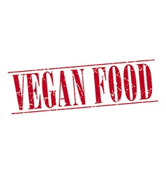 vegan food red grunge vintage stamp isolated on vector image