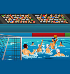 Water polo competition vector