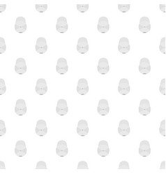 white baseball cap pattern seamless vector image