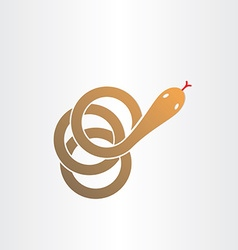 brown snake stylized pharmacy symbol vector image vector image