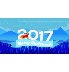 Christmas Natural Landscape Poster Background and vector image vector image