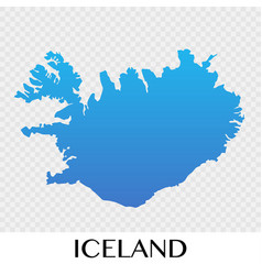 iceland map in europe continent design vector image vector image