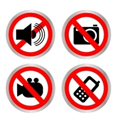 Set of icons forbidding vector