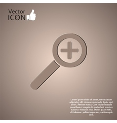 Zoom in web icon vector image