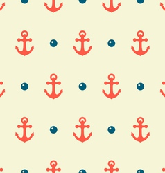 anchor and pearl pattern vector image