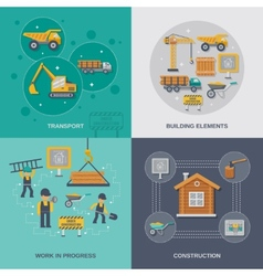 Construction Flat Set vector image vector image