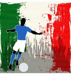 Football Italy vector image vector image