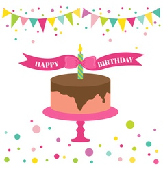 Happy Birthday and Party Card vector image vector image