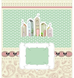 home sweet home card vector image vector image