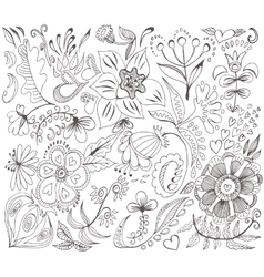 Romantic sketch background vector image vector image