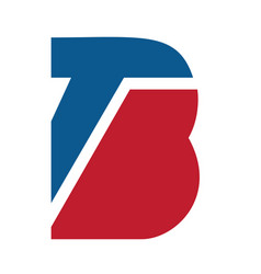 tb business letter logo design vector image