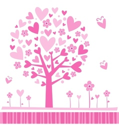 Tree made of hearts vector image