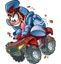 Wild ATV Quad Rider vector image