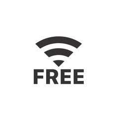 wireless connection pictogram free internet vector image vector image