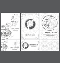 a set of beautiful black and white templates for vector image